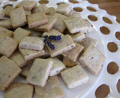 Lavender shortbread cookies web