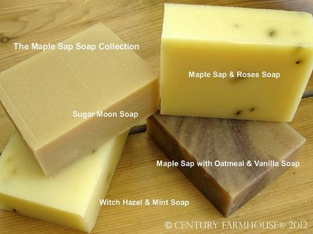 Maple sap soap collection 2012 web