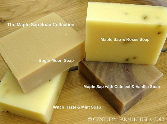 Maple sap soap collection 2012 web